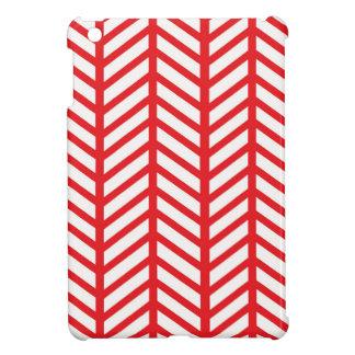 Lipstick Red Chevron Folders iPad Mini Case