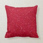 Lipstick Red Glitter Pillows