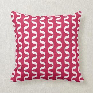 Lipstick Red Twist Pattern Pillow