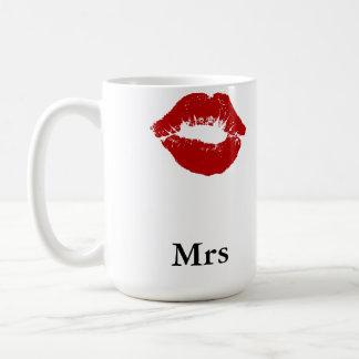 Lipstick Smudge Mrs Classic White Coffee Mug
