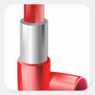 Lipstick Square Sticker