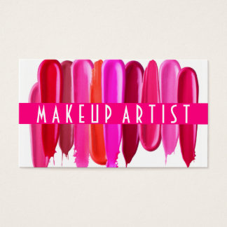 Lipstick Stains Makeup Artist Business Card