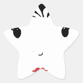 Lipstick Star Sticker