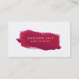 Make up artist business cards zazzle lipstick swatch make up artist business cards colourmoves