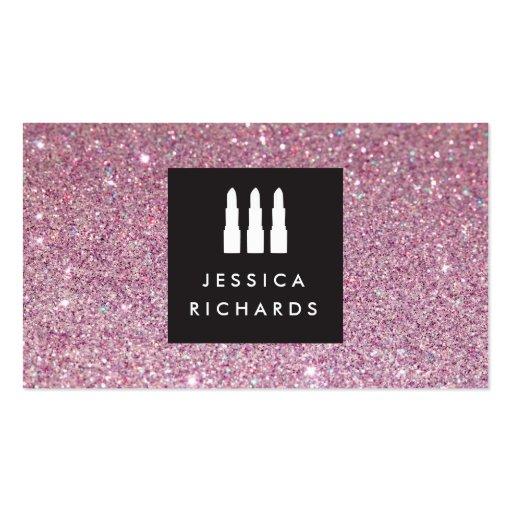 Lipstick Trio Logo for Freelance Makeup Artist III Business Cards