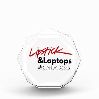 Lipsticks and Laptops Acrylic Award