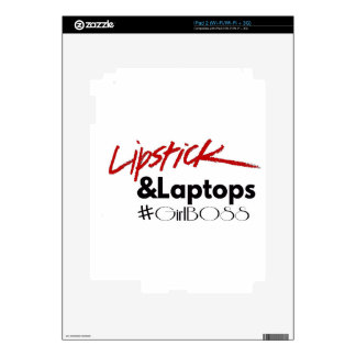 Lipsticks and Laptops Skins For The iPad 2