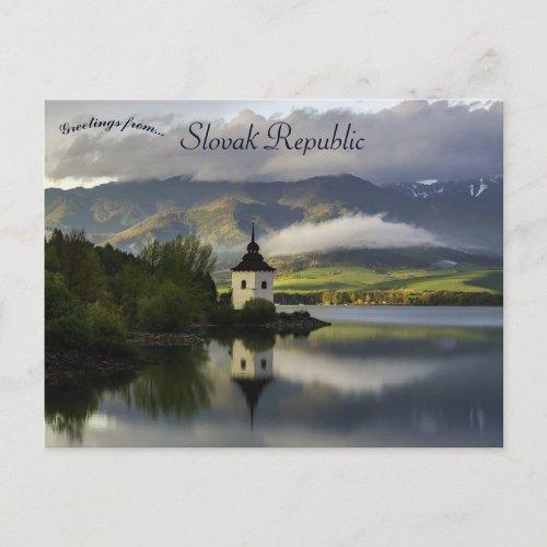 Liptovska Mara Slovak Republic Postcard