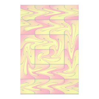 Liquefied abstract stationery
