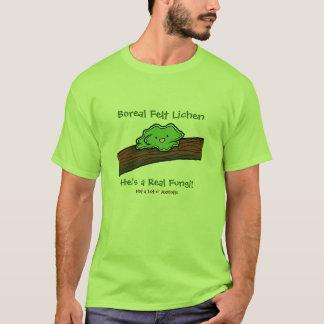 Liquen boreal del fieltro: una camiseta real de