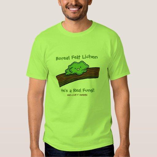 Liquen boreal del fieltro: una camiseta real de polera
