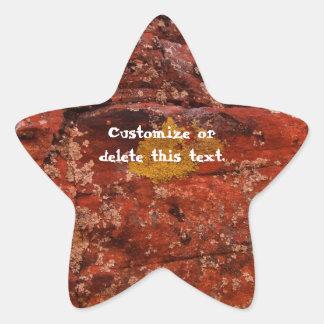 Liquen en el desierto; Personalizable Calcomania Forma De Estrella