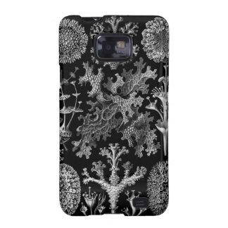 Liquenes en blanco y negro (Lichenes) Samsung Galaxy SII Carcasas