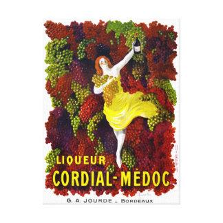 Liquer Cordial-Medoc Vintage Poster Restored Canvas Print