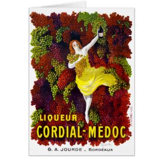 Liquer Cordial-Medoc Vintage Poster Restored Card