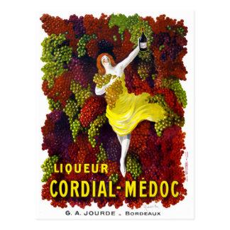 Liquer Cordial-Medoc Vintage Poster Restored Postcard
