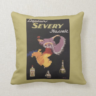 Liqueurs Severy Hasselt Promotional Poster Throw Pillow