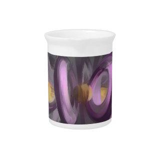 Liquid Amethyst Pastel Abstract Beverage Pitchers