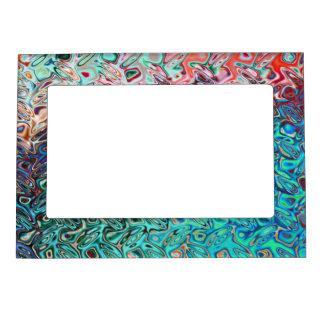 Liquid Blue Gel Magnetic Picture Frames
