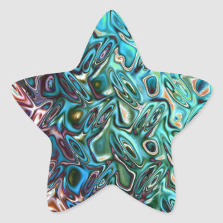 Liquid Blue Gel Star Sticker