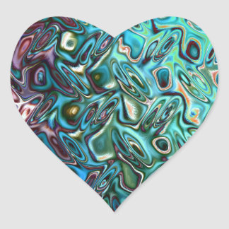 Liquid Blue Gel Heart Stickers