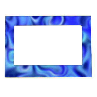 liquid blue magnetic picture frame