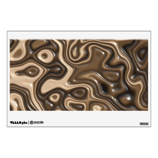 Liquid chocolate wall decor