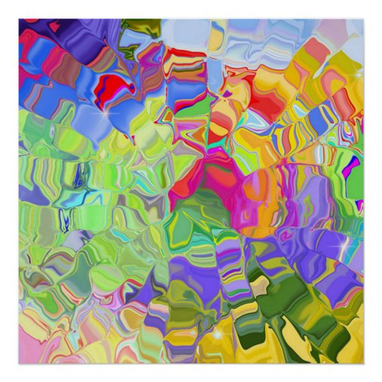liquid color abstract poster from 14.95