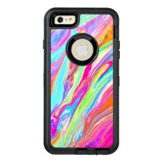 Liquid Color Neon OtterBox Defender iPhone Case