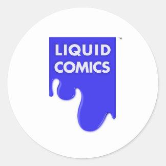 LIQUID COMICS CLASSIC ROUND STICKER