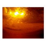 Liquid, Copper, Sunrise - sleek Post Card