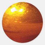 Liquid, Copper, Sunrise - sleek sticker