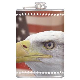 Liquid Courage Flask American Eagle Stars
