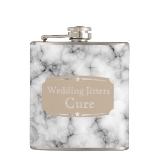 Liquid Courage Wedding Jitters Cure Marble pattern Flask