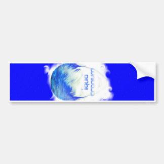 Liquid Cranium Liquidome Blue Bumpersticker Bumper Sticker