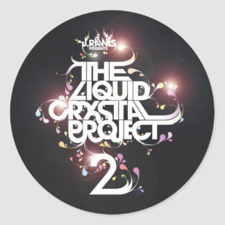 Liquid Crystal Project 2 (Sticker) Classic Round Sticker