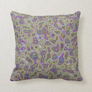 Liquid film interference throw pillow