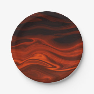 Liquid Fire 7 Inch Paper Plate