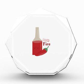 Liquid Fire Acrylic Award