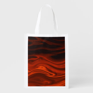 Liquid Fire by Shirley Taylor Reusable Grocery Bag