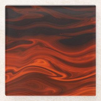Liquid Fire Glass Coaster