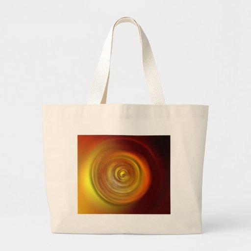 Liquid Fire Sun Swirl Textured Background Tote Bag