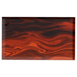 Liquid Fire Table Card Holders
