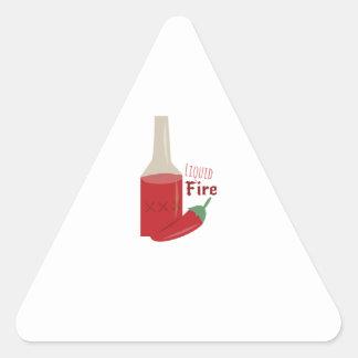 Liquid Fire Triangle Sticker