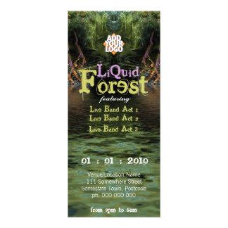 Liquid Forest Party Flyer Custom Rack Card