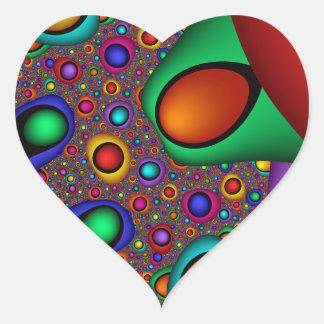 liquid  - Fractal Heart Sticker