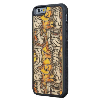 Liquid Gold Abstract Mosaic Phone Case Carved® Maple iPhone 6 Bumper Case