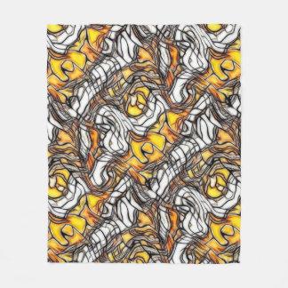 Liquid Gold Abstract Pattern Fleece Blanket
