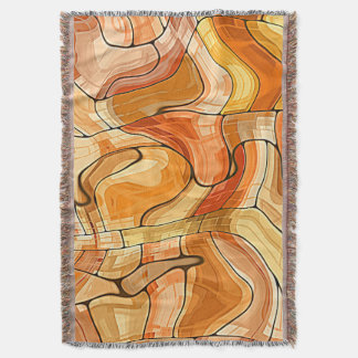 Liquid Gold Abstract Pattern Throw Blanket