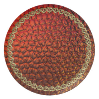 Liquid Gold and Copper Sheen Formal Dining Plate